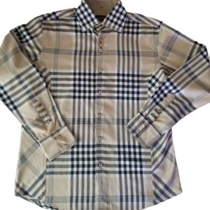 Albertini Westerm plaid button shirt for men's